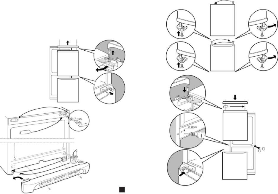 Как перевесить дверь холодильника на другую сторону