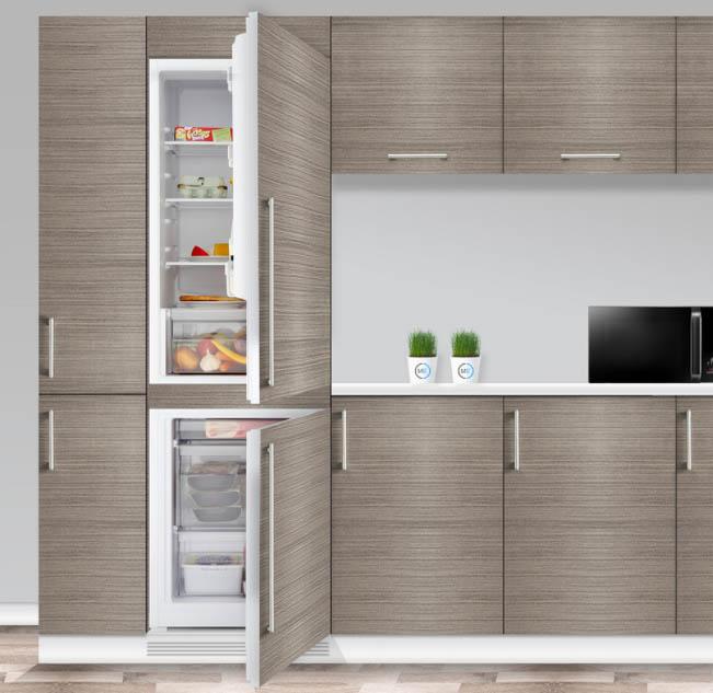 Как встроить холодильник в кухонный гарнитур